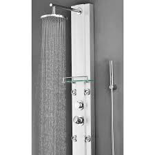 rain shower head system nanaimo aluminium rain fall shower panel set with massage system
