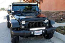 led lights for jeep wrangler install 07 17 jeep wrangler tow hook mounted led light bar