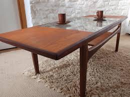 G Plan Coffee Table Teak - teak glass top coffee table courtagerivegauche com