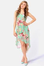 floral dresses pretty floral print dress high low dress 44 00