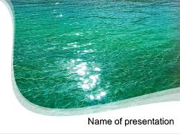 Water Powerpoint Templates by Sea Water Powerpoint Template Background For Presentation Free