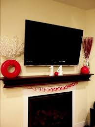 decorations wall mounted indoor fireplaces your daily 20 gorgeous valentine s day mantel décor ideas