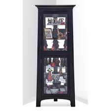 black corner china u0026 curio cabinets you u0027ll love wayfair