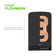 Phone Charging Stand by Wireless Charger 3 Coils Stand Pad Desktop Qi Charging Mat For