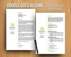 Google Documents Resume Template Resume Template Docs Yellow Diy Google Docs Printable Resume And