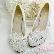 wedding shoes low heel ivory ivory lace wedding shoes handmade appliques flat heel 4 5