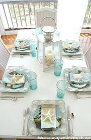 coastal centerpieces coastal table decor chic tables and dining tradesman
