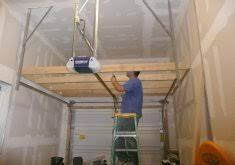 building a garage loft for storage above garage door loft home
