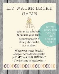 my water baby shower printable boho tribal my water baby shower