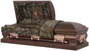 camo casket 18 steel casket