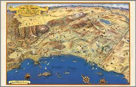 Map Southern California Ride The Roads To Romance Along The Golden Coast And Thru The