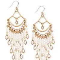 White Chandelier Earrings White Chandelier Jewelry Thesecretconsul Com