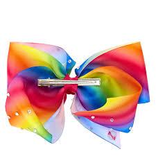 hair bow ribbon jojo siwa large rhinestone rainbow signature hair bow s us