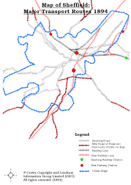 Sheffield England Map by David Waterhouse