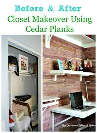Diy Built In Desk Diy Cedar Planked Closet With Built In Desk Hometalk