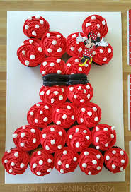 Minnie Mouse PullApart Cupcake Cake Crafty Morning - Pull apart cupcake designs