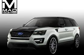 Ford Explorer Ecoboost - ford previews explorer edge concepts for sema