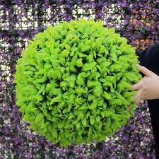 Hanging Topiary Uland Decorative Artificial Grass Ball Plastic Leaf Effect Hanging
