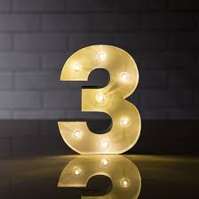 marquee numbers with lights marquee light number 8 led metal sign 8 inch battery operated