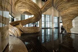 Lobby Stairs Design An Amazingly Sculptural Spiral Staircase Has Been Installed In The