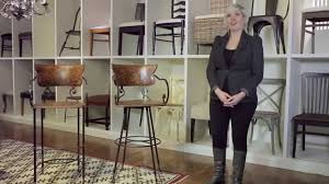cafe bar stools arhaus furniture café bar stools youtube