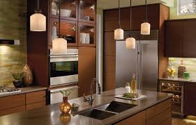 concrete countertops pendant lighting over kitchen island flooring
