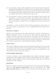 Commercial Truck Driver Resume Sample by Sihuan 460 Hk Auditor Disclaimer Of Opinion