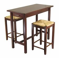 Furniture Kitchen Sets Kitchen Island 3 Piece Breakfast Set With Saddle Stools Antique