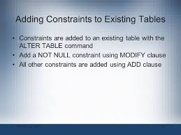 Alter Table Modify Column Oracle Oracle 11g Sql Chapter 4 Constraints Ppt Video Online Download
