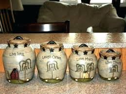 kitchen ceramic canister sets country kitchen canister set with black letter d cor kitchen