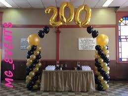 gold balloon arch decorations google search grandma u0027s 100th