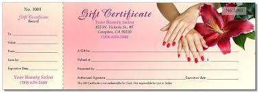 nail salon gift cards printing for nails