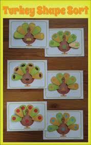 turkey shape sorting activity thanksgiving shape activities