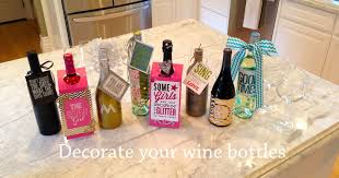 how to decorate a wine bottle for a gift wine bottle decor me my big ideas
