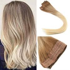 glue extensions balayage ombre remy human hair flip in extensions 80g medium