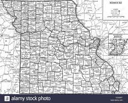 Map Missouri Old Map Of Missouri State 1930 U0027s Stock Photo Royalty Free Image