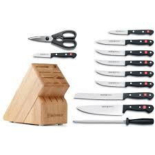 wusthof kitchen knives wusthof gourmet 12 knife block set at swiss knife shop
