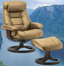 amazon com fjords mustang large leather recliner and ottoman