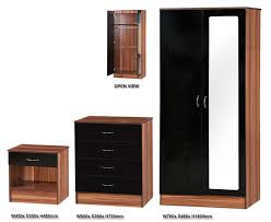 sensational gloss black wardrobe set photos inspirations bedroom