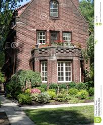 Tudor Style Cottage Tudor Style Brick Home In Forest Hills N Y Stock Photo Image