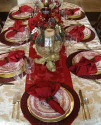 red and gold christmas table decoration ideas house design ideas