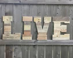 Reclaimed Wood Home Decor Wedding Decor Pallet Love Letters Reclaimed Wood Wooden