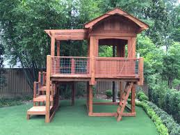 custom redwood timber frame playhouse swing set plans