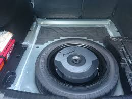 nissan qashqai spare wheel spare tyre subwoofer pioneer ts wx610a in mazda 6 3rd gen