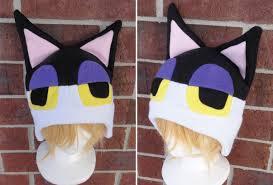 punchy the cat animal crossing fleece hat teen kid