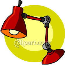 Red Desk Lamp by Red Desk Lamp Royalty Free Clipart Picture