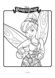 tinkerbell pirate fairy colouring 4