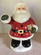 Pottery Barn Christmas Decorations Ebay by Pottery Barn Snowman Cookie Jar U0026 4 Santa Blanca Mugs Set 5