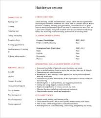 hair stylist cv template salon manager resume sample