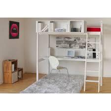 lit mezzanine bureau blanc lit mezzanine sommier bureau rangement city pas cher à prix auchan